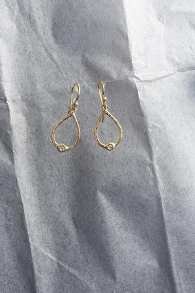 George Lifestyle, jewelry gold diamond earrings