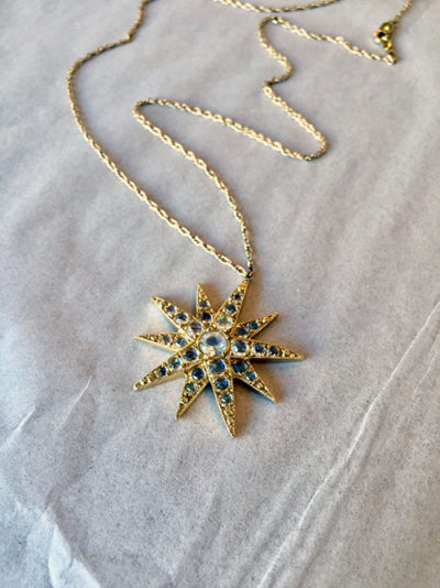 George Lifestyle jewelry gold star necklace